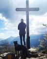 Arrivée à la croix de la Rochebrune.
