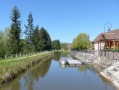 Canal de Berry et embarcadère- Drevant