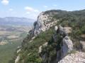 Crête avec vue panoramique sur la vallée