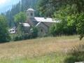 Abbaye de Boscodon depuis Savines-le-Lac