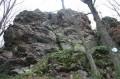 Le rocher du corbeau, vu du bas