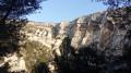 Les falaises entourant le Gouffre