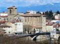 Les berges de l'Isère et la vieille ville de Romans-sur-Isère