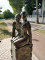 Sculpture hommage à Charles Trenet