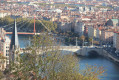 Vue sur les quais de Saône